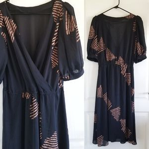 Vintage 80s Faux Wrap Reversible Dress